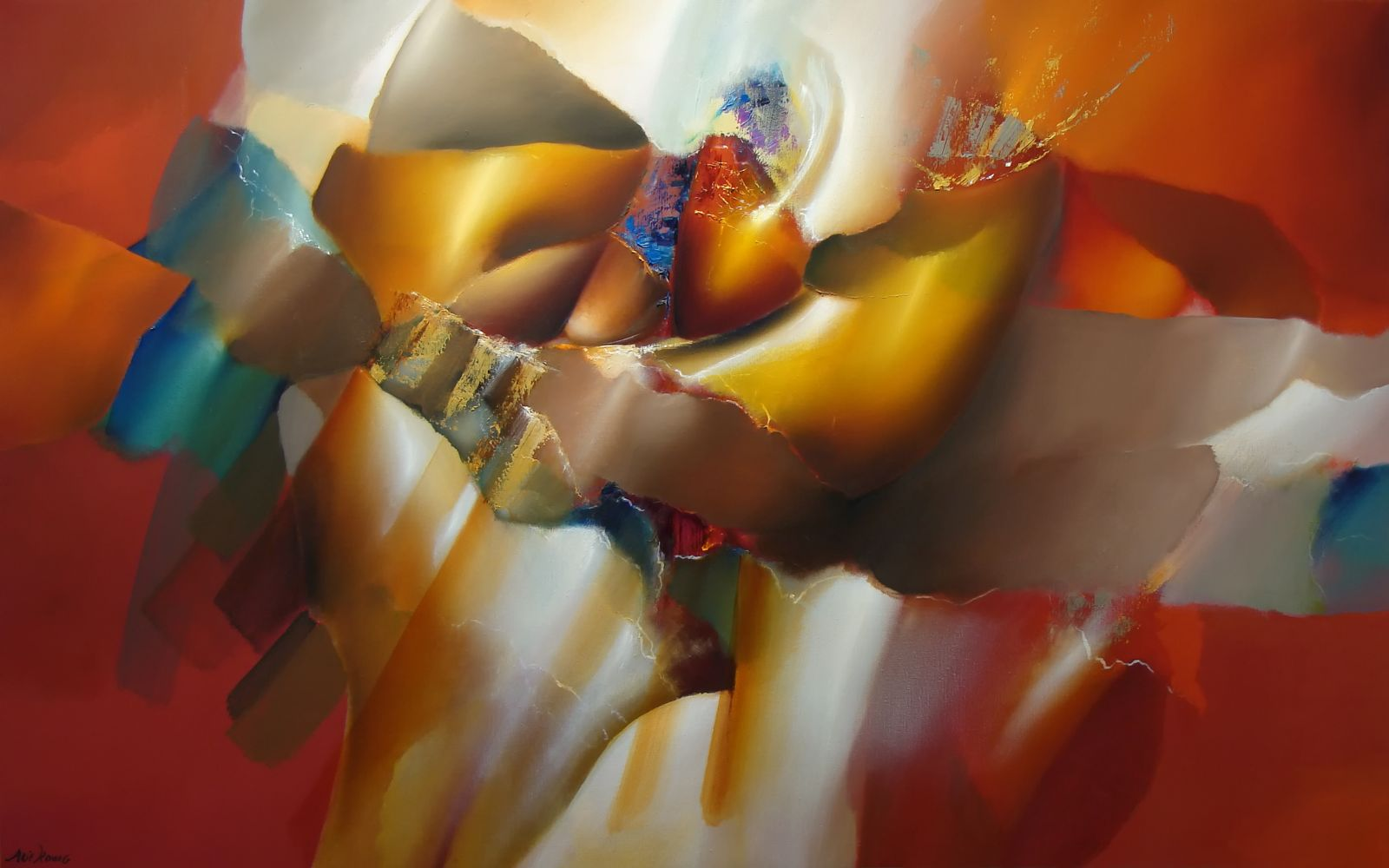 Arie koning over abstracte schilderkunst - Bron schilderijen ...