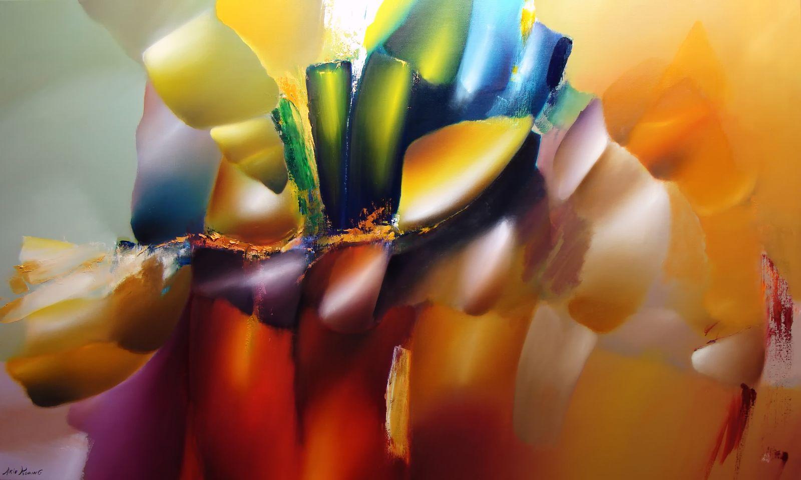 Arie Koning - Over canvas schilderijen met vrolijke kleuren en warme ...