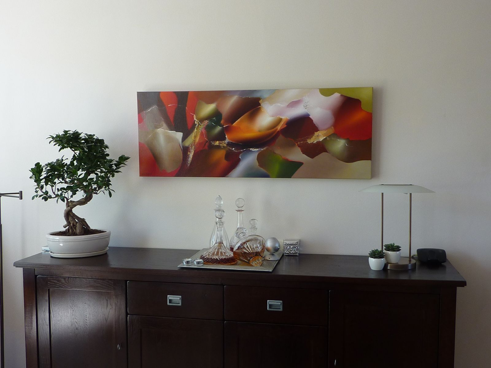 Arie koning waar een mooi abstract schilderij kopen met for Moderne schilderijen